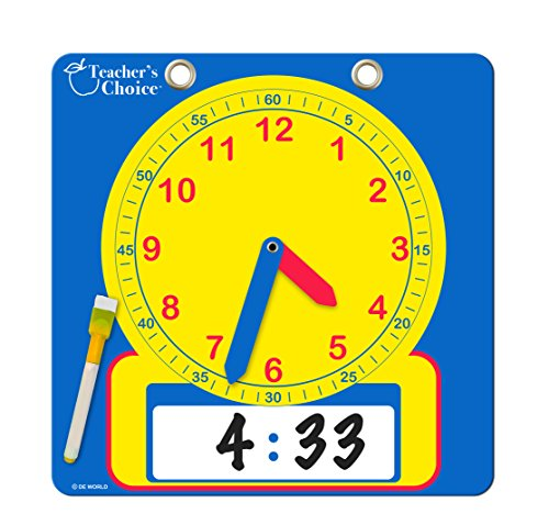 Educational Teaching Clock | Large Demonstration Learning Time Clock with Erasable Writing Surface to Teach - Clock Demonstration
