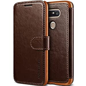 LG G5 Case, VRS Design [Layered Dandy][Coffee Brown] - [Premium Leather Wallet][Slim Fit][Card Slot] For LG G5