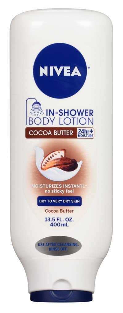 Nivea Lotion In-Shower Cocoa Butter 13.5 Ounce (Dry To Very Dry Skin) (400ml) (2 Pack) by Nivea