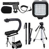 Promax Beginner Filmmaker Starter Kit for Canon EOS DSLR 5D Mark II III 6D 7D 7D II 70D 60D T6s T6i T5i T4i T3i SL1