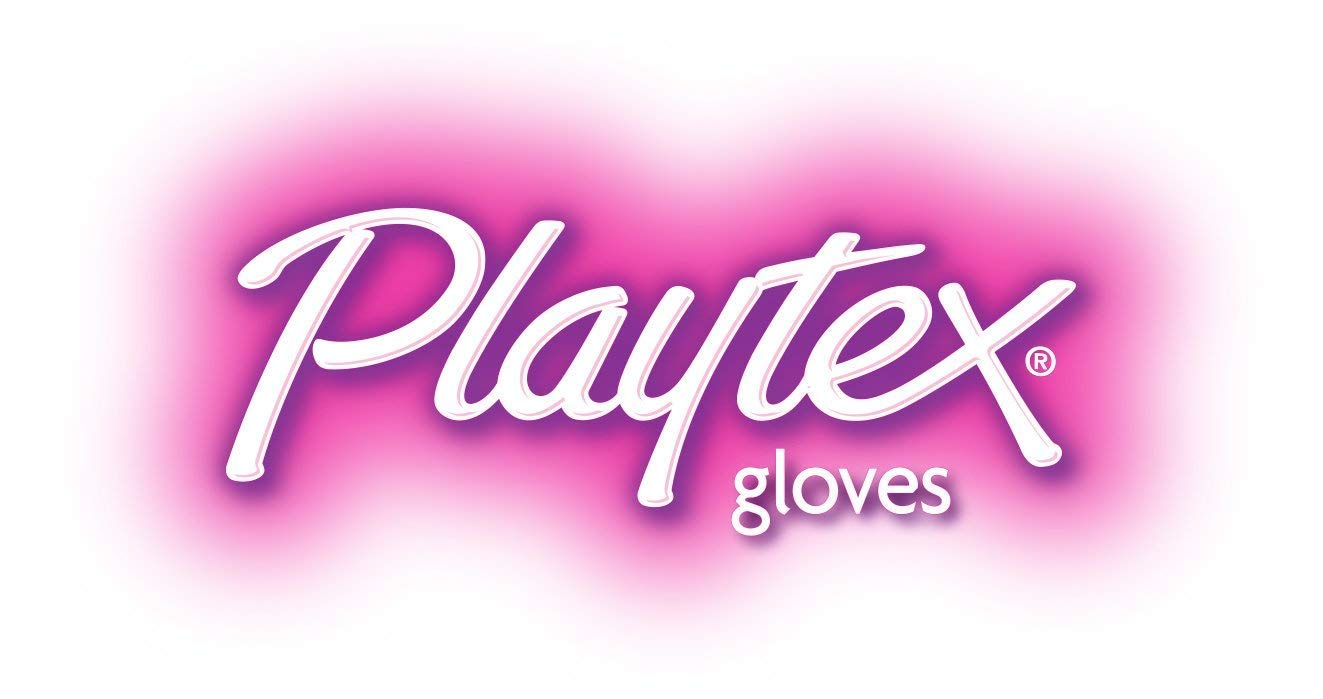 Playtex Living Reuseable Rubber Cleaning Gloves (Medium, Pack - 3) 4 Drip-Catch Cuff. Keeps your hands, arms and clothing dry Textured palm and fingertips. Improves grip while handling wet objects Ultra-Fresh technology. Inhibits the growth of odor-causing bacteria, mold and mildew on the glove