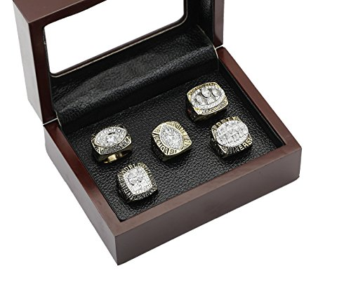 San Francisco 49ers Super Bowl Championship Rings Full Set Replica