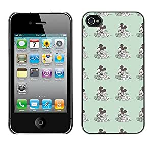 PatternViking PC Polycarbonate Aluminium Back Case Cover Apple iPhone 4 / 4S ( Mickey mouse )