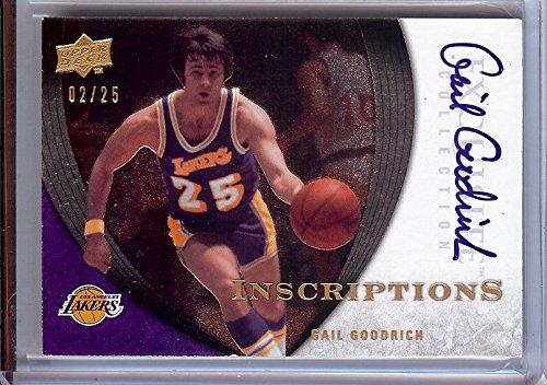 (Gail Goodrich 2007-08 UD Exquisite Inscriptions Autograph Lakers #IA-GO 02/25)