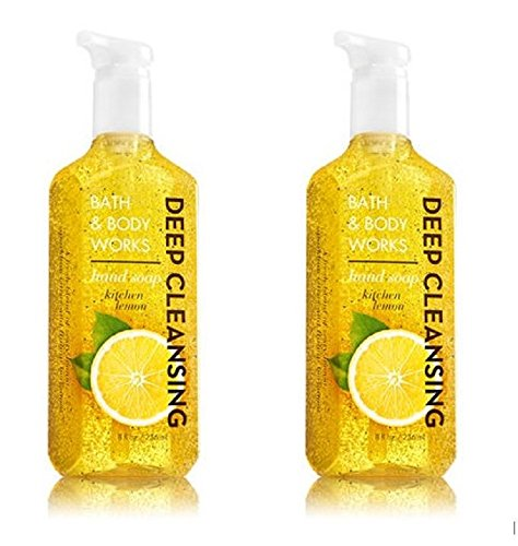 Bath & Body Works Deep Cleansing Hand Soap in Kitchen Lemon (Pack of 2) ()