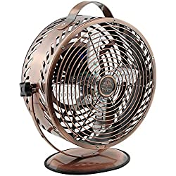Himalayan Breeze Bronze Fan, Portable Fan, ETL Certified Unique Decorative Lightweight Table Fan By WBM
