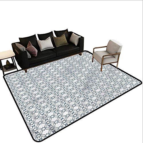 Geometric,Anti-Slip Coffee Table Floor Mats 60