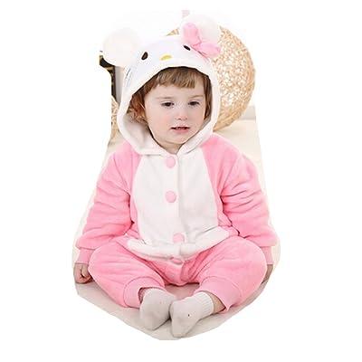 OHmais Bébé fille garçon Unisexe Grenouillère Costume Deguisement combinaison pyjamas vêtement printemps automne chat