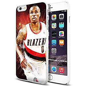 NBA Damian Lillard rookie Portland Trail Blazers basketball, Cool iPhone 6 Plus (6+ , 5.5 Inch) Smartphone Case Cover Collector iphone TPU Rubber Case White [By PhoneAholic]