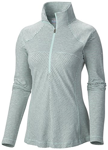 Columbia Bases (Columbia Women's Layer First Half Zip Knit Shirt, Blue Glass, X-Large)
