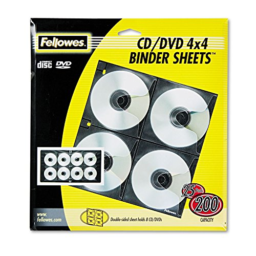 (FEL95321 - Fellowes Two-Sided CD/DVD Refill Sheets for Three-Ring Binder )