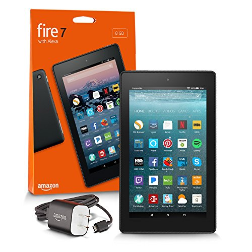 All-New Fire 7 Tablet with Alexa, 7″ Display, 8 GB, Black – with Special Offers