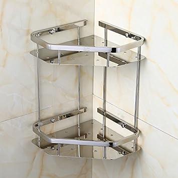 KIEYY Cuarto de baño, cuarto de baño rack rack doble pletina ...