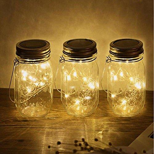 Laideyilan 10 LED Solar Plastic Bottle Light Warm White Fairy Star Firefly Jar Lights Outdoor Waterproof Transparent Drop Resistance Plastic Bottle Light by Laideyilan