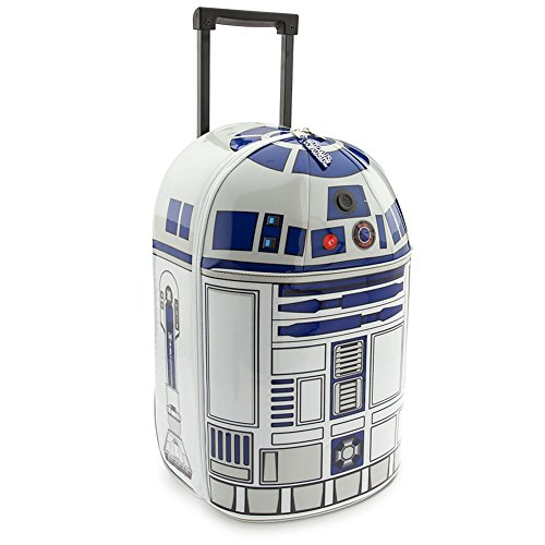 Disney Store Star Wars R2-D2 Light-Up & Sound Rolling Luggage/Carry-On Suitcase by Disney