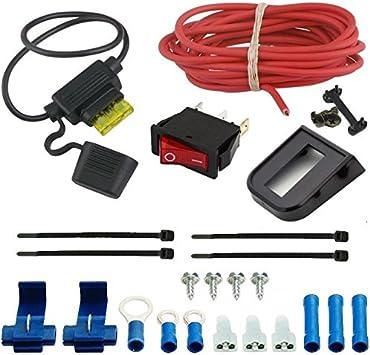 Amazon Com American Volt Electric Cooling Fan Spst Manual Toggle Rocker Flip Switch 12v Complete Wiring Kit Automotive