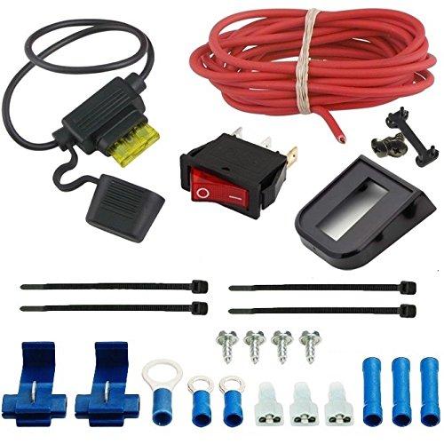 American Volt Electric Cooling Fan SPST Manual Toggle Rocker Flip Switch 12V Complete Wiring Kit