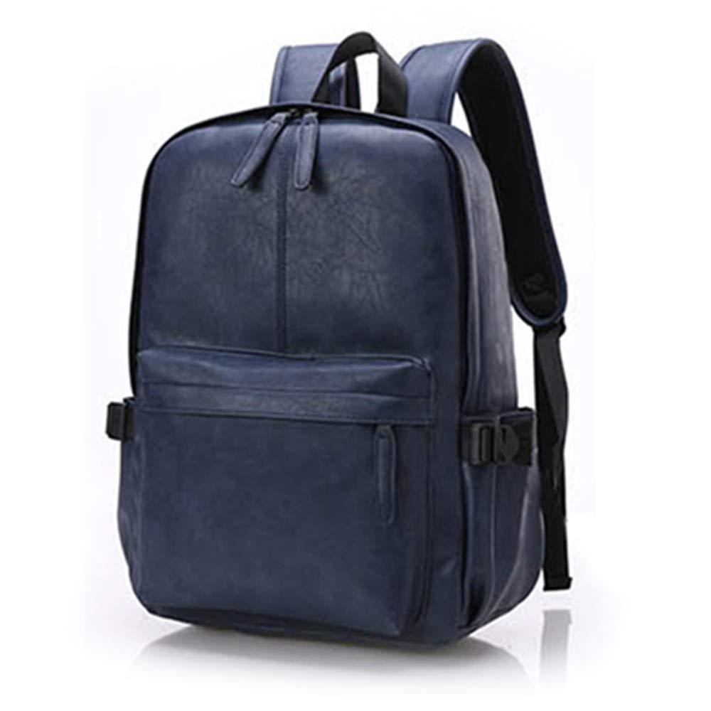 OURBAG Men's Vintage PU Leather Backpack Daily Casual Sport Backpack Business Travel Shoulder Bag Black