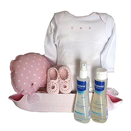 Canastilla bebé - Cuki ballena rosa - cesta regalo recién nacido Mil ...