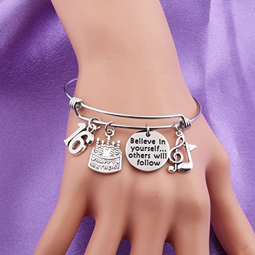 MAOFAED 21st birthday bracelet 13th Sweet 16 18th Inspiration Birthday Gift Believe in yourself Anniversary Jewelry (B-16th) by MAOFAED (Image #3)