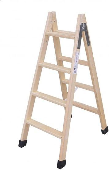 Escaleras Climent,C.B. - Escalera Madera Doble Con Taco 5X5: Amazon.es: Bricolaje y herramientas