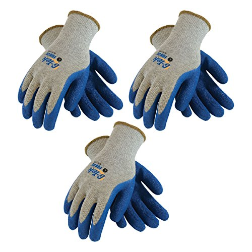 (G-Tek Force 39-C1300 Premium Grade Cut-Resistant Latex Coated Gloves, Sizes Small to X-Large (3Pair Pack)(Small))