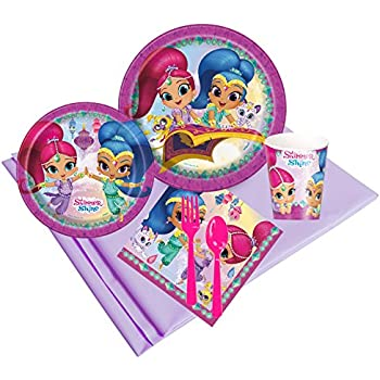 Amazon.com: Shimmer y Shine Feliz cumpleaños Party Pack ...