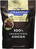 Ghirardelli Premium Baking Cocoa, 100% Unsweetened, 8oz. (Pack of 2)