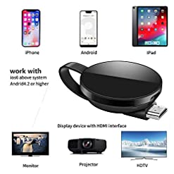 Wireless Display Dongle Receiver, 5G network version 1080P HDMI Miracast WiFi Media Streamer Adapter Support YouTube Netflix Hulu Plus Airplay DLNA TV Stick for iOS/Android