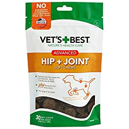 Vet's Best Hip & Joint Soft Chew Dog Supplements | Formulated with Glucosamine and Chondroitin to Support Dog Joint and Cartilage Health | 30 Day Supply