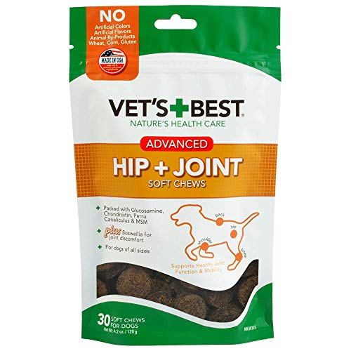 Vets Best Advanced Hip & Joint Soft Chews Dog Supplements, 30 Day Supply
