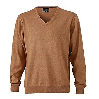 a3ad3c3f55b8 Men s V-Neck Pullover - Herren V-Neck Pullover 3XL,Camel  Amazon.de ...