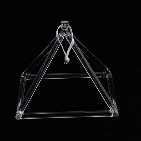 Shiwaki 1x Instrumento Musical De Perfecta Pir/ámide De Cristal De Cuarzo Pir/ámide De 8F Nota