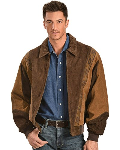 Boar Suede Jacket (Scully Men's Boar Suede Leather Arena Jacket Chocolate Large)