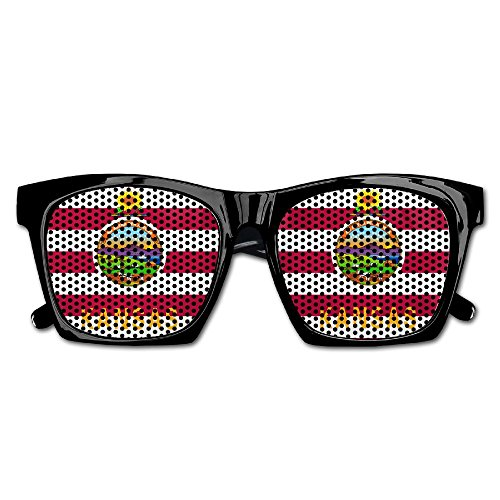 Elephant AN Themed Novelty Usa Kansas Flag Creative Visual Mesh Sunglasses Fun Props Party Favors Gift - Kansas Maui