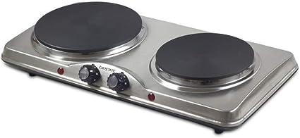 Eléctrico horno con hierro fundido Doble de placa de cocina (2500 W – Beper 90.825
