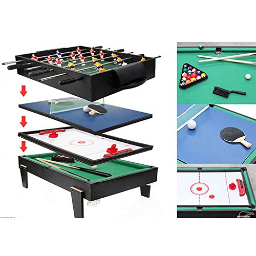 4 in 1 Multi Game Table Pool / Air Hockey / Table Tennis / Table Soccer by Unknown
