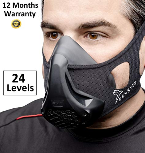 Workout Mask | Training Masks | High Altitude Breathing Imitation | Running, Oxygen Deprivation | Air Hypoxic Restriction For Men & Women | Gym Exercise Fitness 3.0 Work Out Cardio, Sports 2.0