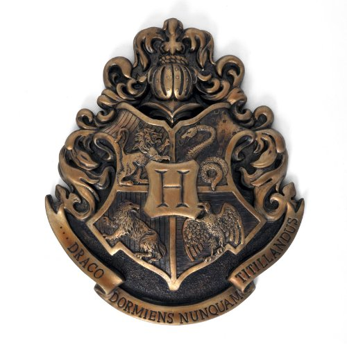 Harry Potter - Hogwarts coat of arms mural metal 28 x 30 cm