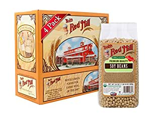 Bob's Red Mill Organic Soy Beans, 24 Ounce (Pack of 4)