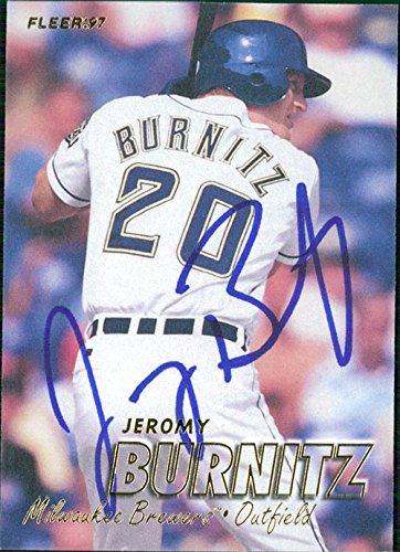 Powers Collectibles Signed Burnitz, Jeromy (Milwaukee Bre...