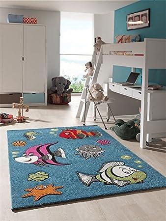 Amazon.de: kinder teppich lustige fische kinderzimmer spielteppich ...