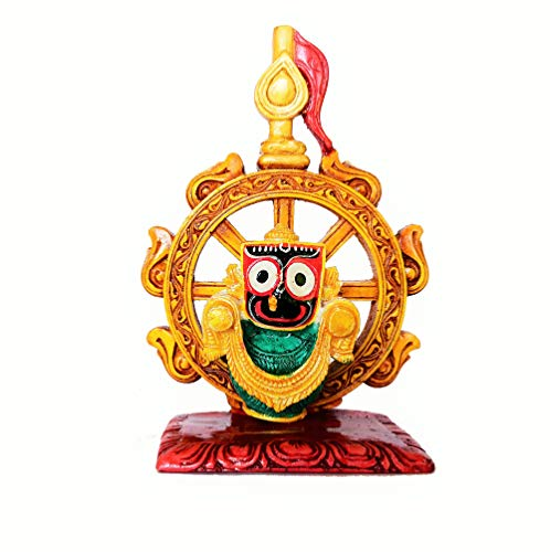 RealCraft;INSPIRING LIFES Marble Idol of Lord Jagannath in Nilachakra for Living Room,Study, Hotels, Office, Corporate…