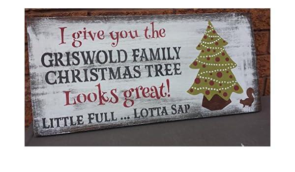 Amazon.com: Olga212Patrick GRISWOLD FAMILY CHRISTMAS Tree Sign National Lampoon  Christmas Vacation Sign Humorous Gag Gift Movie Lover Hostess Housewarming:  ... - Amazon.com: Olga212Patrick GRISWOLD FAMILY CHRISTMAS Tree Sign