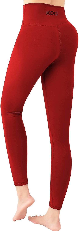 KDG High Waist Yoga Pants,Tummy Control Workout Running Pants Naked Feeling Leggings for Women