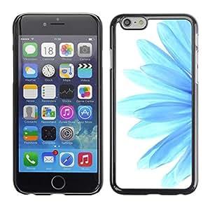 TopCaseStore / la caja del caucho duro de la cubierta de protección de la piel - Blue Flower Daisy Petal White Minimalist - Apple iPhone 6
