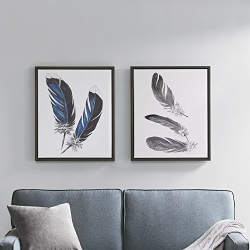 Décor 5 - Printed Canvas Set With Frame- 2 Pieces, 20'' x 24