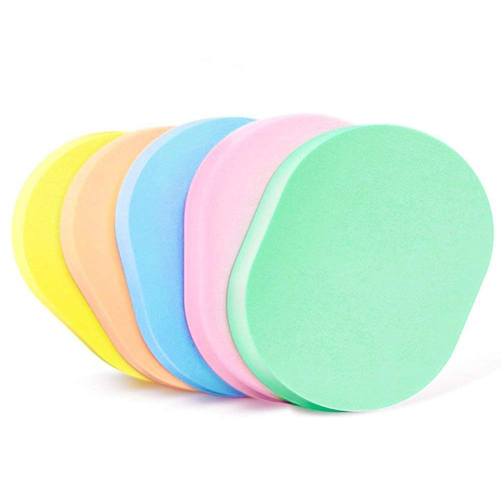 Dotters 50 Pcs Colorful Wash Face Sponge Facial Cleansing Fashion Makeup Tools Compressed Pad Powder Puff