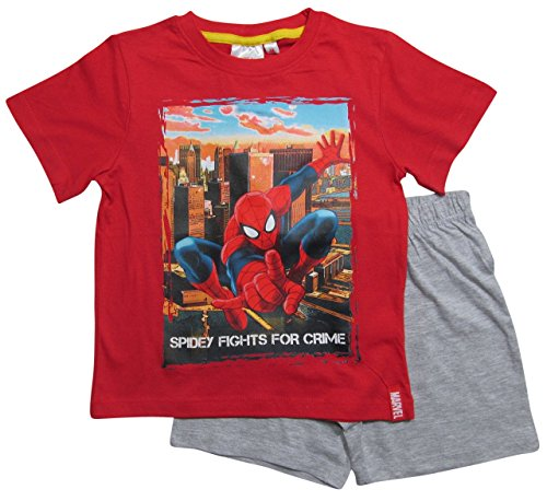Spiderman Pyjama Kollektion 2016 Shortie 98 104 110 116 122 128 Shorty Kurz Jungen Sommer Neu Schlafanzug Marvel Ultimate Amazing Rot-Grau (110 - 116, Rot-Grau)