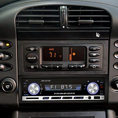 yohoolyo autoradio bluetooth poste radio voiture auto radio adapteur iso support usb sd mm aux. Black Bedroom Furniture Sets. Home Design Ideas